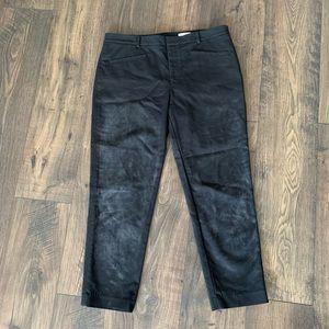 Club Monaco Faded Black Cropped Pants 12